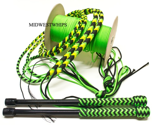 Dayglow Black Light Responsive Whips