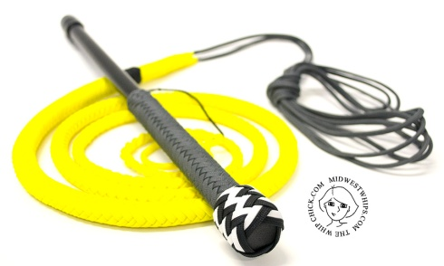 Gray and Yellow Paracord Whip